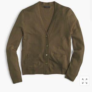 J. CREW | v neck cardigan sweater merino wool xs